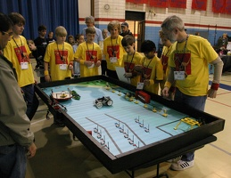 The Roboraptors at the practice table