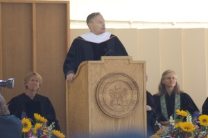 "308-6034 Commencement - ""Creativity"" Gordon D. Kauffman, Doctor of Humane Letters honoris causa"
