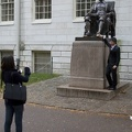 315-0564 Posing with Statue of John Harvard.jpg