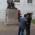 315-0617 Posing with Statue of John Harvard.jpg