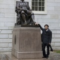 315-0621 Posing with Statue of John Harvard.jpg