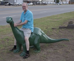 316-4116 Dick on Apatosaurus, Liberal, KS