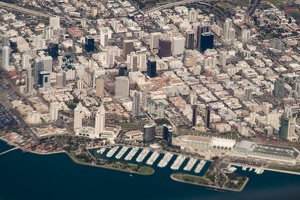 317-1137 Downtown San Diego from the air