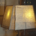 318-6081--6083 Hearst Castle Parchment Document Lamp Shade HDR