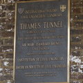 404-8427 London - Thames Tunnel Plaque
