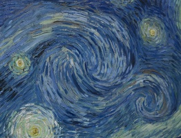 407-1585 NYC - MOMA - van Gogh - The Starry Night 1889 (detail)