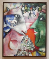 407-1649 NYC - MOMA - Chagal - I and the Village 1911