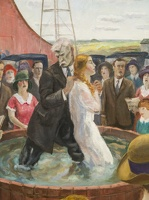 407-2105 NYC - Whitney - John Steuart Curry - Baptism in Kansas 1928 (detail)