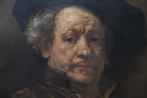 407-2565 NYC - Met - Rembrandt - Self Portrait 1660 (detail)