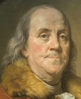 407-2622 NYC - Met - Joseph Siffred Duplessis - Benjamin Franklin 1778 (detail)