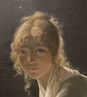 407-2630 NYC - Met - Marie Denise Villers - Young Woman Drawing 1801 (detail)