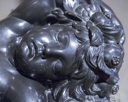 407-6598 IT - Roma - Galleria Borghese - Algardi - Il Sonno (Sleep) (detail) c 1635-36