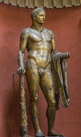 407-6899 IT - Roma - Vatican Museum - Heracles of the Theatre of Pompey, gilded - 2nd century AD