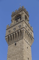 408-3296 IT - Firenze - Clock Tower of Palazzo Vecchio from the Uffizi Gallery