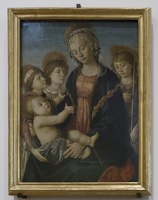408-2252 IT - Firenze - Galleria dell'Accademia - Botticelli - Madonna and Child with Saaint John the Baptist and Two Angels c 1470