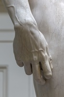 408-2489 IT - Firenze - Galleria dell'Accademia - Michelangelo - David (detail) 1501-04