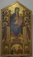 408-3046 IT - Firenze - Uffizi Gallery - Cimabue - Madonna and Child with Angels and rophets 'Santa Trinita Maestra' c 1290-1300