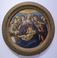 408-3271 IT - Firenze - Uffizi Gallery - Botticelli - Madonna and Child with Six Angels 'Madonna of the Pomegranate' 1487