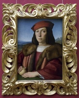 408-3323 IT - Firenze - Uffizi Gallery - Raphael - Portrait of a Young Man with an Apple c 1504-05
