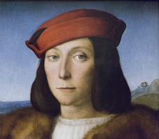 408-3324 IT - Firenze - Uffizi Gallery - Raphael - Portrait of a Young Man with an Apple (detail) c 1504-05