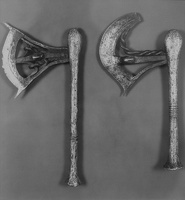 409-2748 VMA - Walker Evans, Two Ceremonial Axes, Belgian Congo, 1934-1935