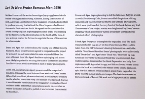 409-2771 VMA - Walker Evans Card - Let Us Now Praise Famous Men