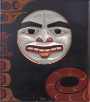 409-3190 BRG Don Yeomans (Haida), Bent Corner Chest, 1998 (detail)