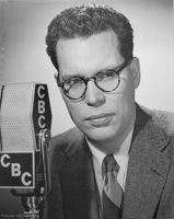 409-3323 BRG Bill Reid at the CBC microphone circa 1952