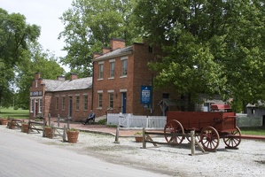 313-9281 Nauvoo IL Browning Home and Gun Shop, historical village