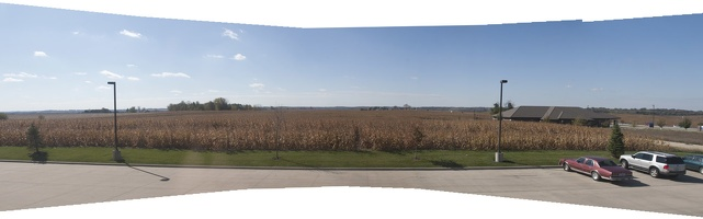 317-1153--1157 Corn Field Mt Vernon IA Panorama