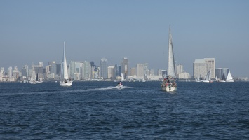 205-1688 San Diego Sailing - Sailboats and Skyline